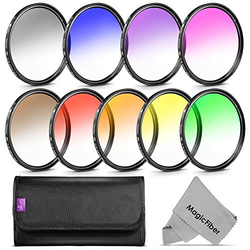 Goja 58Mm Complete Graduated Color Lens Filter Set For Canon