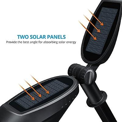 litom solarbetriebener Spot Lampe, 2Solarmodule, für die Landschaftsbeleuchtung