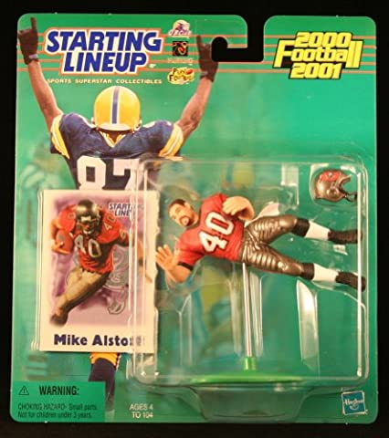 MIKE ALSTOTT / TAMPA BAY BUCCANEERS 2000-2001 NFL Starting Lineup Action Figure & Exclusive NFL Collector Trading Card