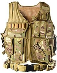 YAKEDA® chaleco de la policía, chaleco militar, chaleco ejército, las acciones de color caqui / color de bosques Sello Chaleco campo chaleco chaleco táctico militar --1063 (CP)