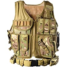 YAKEDA® Tactical Vest Apparecchiatura esterna Esercito campo fan gilet tattico per gli uomini e jungleadventure (Speciale Forze Portante)