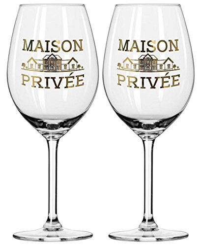 Prime Presents 2er Set Luxus Weingläser mit Echtgold farbloses Kristallglas bauchig, groß, 540ml...