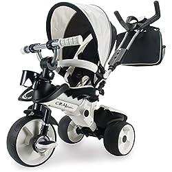 INJUSA- Disney Triciclo City MAX Blanco para Bebés +6 Meses con Mango de Control Parental de Dirección, Color (327)