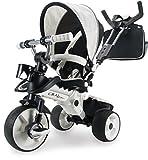 INJUSA - Triciclo City MAX para bebés a Partir de los 8 Meses, con Control Parental Desde el Mango y Ruedas con Banda de Goma, Blanco (327)
