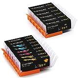 Haut Rendement Hitze PGI 570XL CLI 571XL Cartouche d'encre Compatible pour Canon...