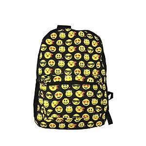 51 1rIwo9OL. SS300  - Desire Deluxe Stylish School Backpack Rucksack Emojis Shoulder Book Bag for Boys Girls 34 x 14 x 44cm