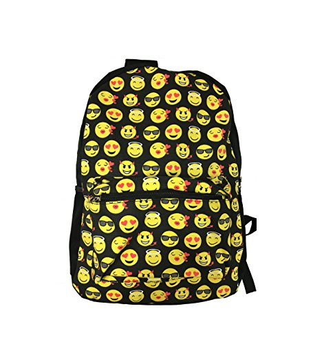 51 1rIwo9OL - Desire Deluxe Stylish School Backpack Rucksack Emojis Shoulder Book Bag for Boys Girls 34 x 14 x 44cm