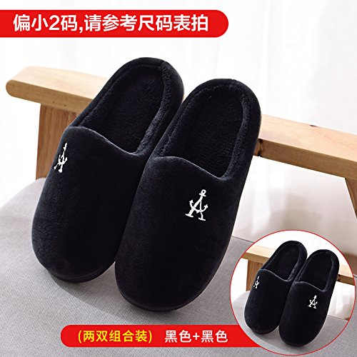 Fankou autunno e inverno pantofole di cotone femmina calda coperta a metà pack con il giovane piano casa pantofole di cotone Grau
