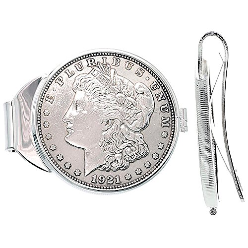 Morgan Dollar zurückfedernde Geldklammer aus Sterling Silber (1878-1921) (1878 Morgan-dollar)
