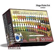 El Pintador de Ejércitos: Juego de pinturas para miniaturas, Mega Paint Set 3 con Pinturas de Guerra