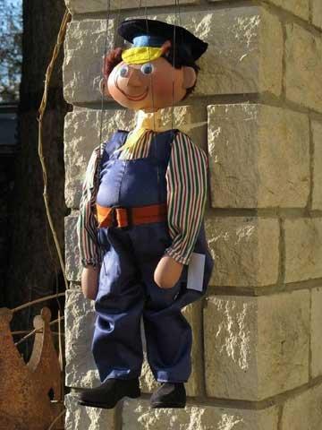 Lukas der Lokomotivführer - Marionette der Augsburger Puppenkiste
