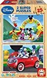 Educa - 13470 - Puzzle Bois Wd 2X25 pièces - Mickey Mouse Club House