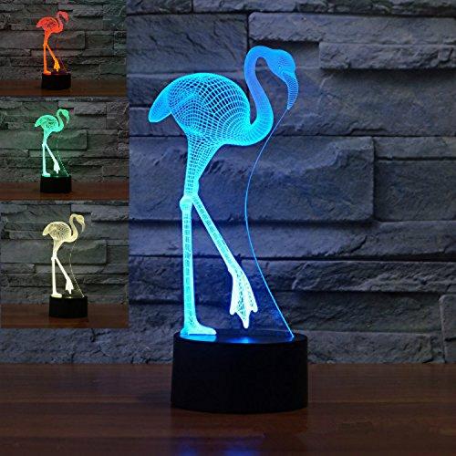Optische Illusions-Lampen, Tolle 7 Farbwechsel Acryl berühren Tabelle Schreibtisch-Nachtlicht mit USB-Kabel für Kinder Schlafzimmer Geburtstagsgeschenke Geschenk ()