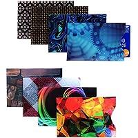 Étuis de Protection RFID pour Carte Bancaire par Kurtzy- Lot de 8 Pochettes de Sécurité Fines pour Portefeuille Porte-Monnaie Prévention des Fraudes - Protection Optimale Contre le Vol d'Identité
