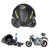 KaTur Motorrad-Rücksitztasche, Tank-Tasche, multifunktional, wasserdicht, PU-Leder, Aufbewahrung, Satteltasche, Soziustasche, super-leicht, Zubehörtasche –schwarz