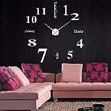 Ghdkhgksdhreloj De Pared Digital Acrílico Moderno Diy Reloj De Pared Aguja De Cuarzo 3D Espejo Superficie Etiqueta Relojes Moda Home Office Decor