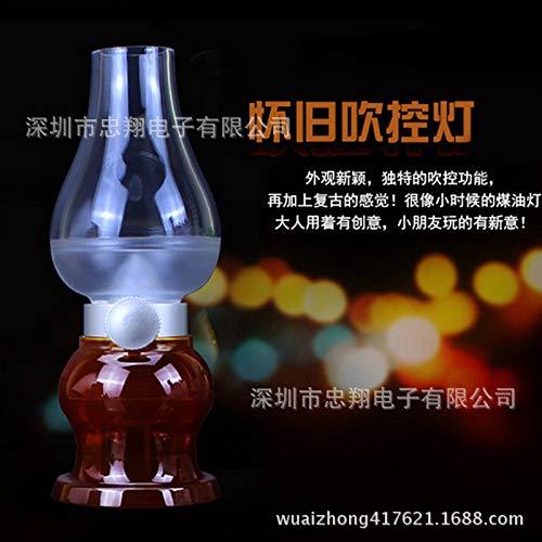 Retro Petroleumlampe Induktionsnachtlicht USB-Lade LED bläst Kontrolllampe 0,4 W weinrot (Erscheinungsfarbe) Blast-usb
