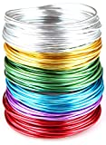 Goodwei Creacraft Aluminium Schmuckdraht-Set Basic 6 Farben, 30m x (5m je Farbe) (3 mm)