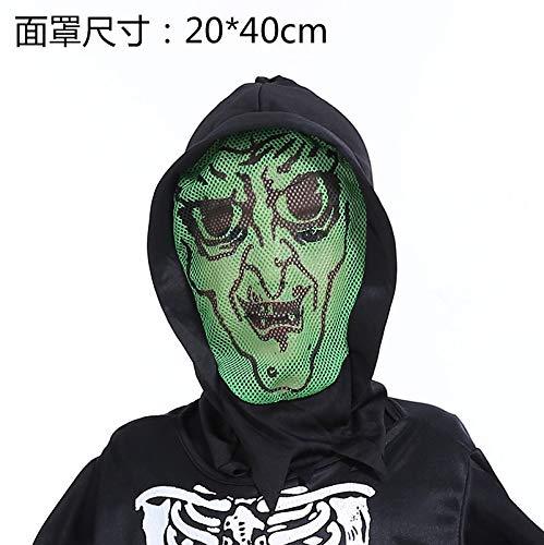Ya1&Ya Halloween Ghost Maske Horror Scary Männlichen Erwachsenen Schreien Weibliche Grimasse Gesicht Death Vampire Devil, G (Unheimlich Halloween-gesichter Weiblich)