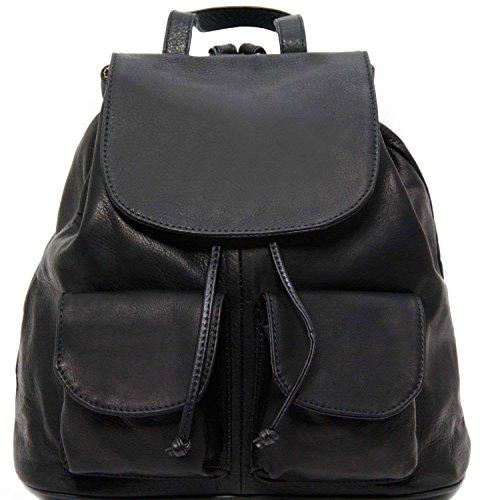 Tuscany Leather - Seoul - Sac à dos en cuir Grand modèle - Noir