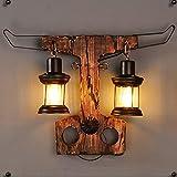 RENYAYA Retro-Mauer Lampe Industrielle Beleuchtung Alte Metallwandlampe Indoor-Wandlampe Bar, Restaurant, Café, Club Retro-Dekorative Beleuchtung (E27 Steckdose)