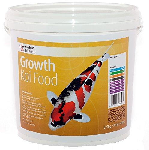 FFS Croissance koï Nourriture. Petite, Junior Granulés de 3 mm. Convient pour tous les poissons de bassin.