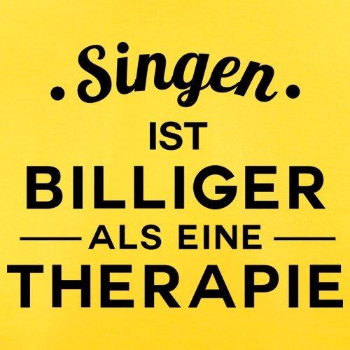 Singen ist billiger als eine Therapie - Herren T-Shirt - 13 Farben Gelb
