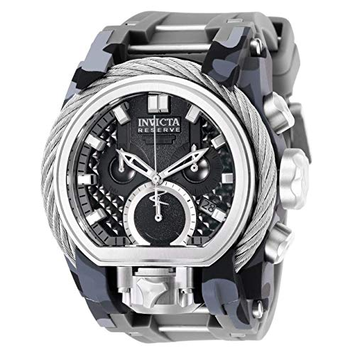 Invicta Men's Reserve Grey Silicone Band Steel Case Swiss Quartz Watch 26439