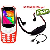 I KALL K35 Red Dual Sim Mobile With Neckband