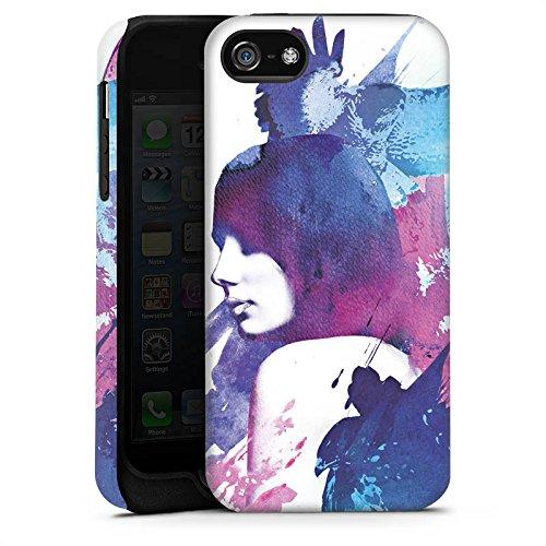 Apple iPhone 4 Housse Étui Silicone Coque Protection Femme Femme Imagination Cas Tough terne