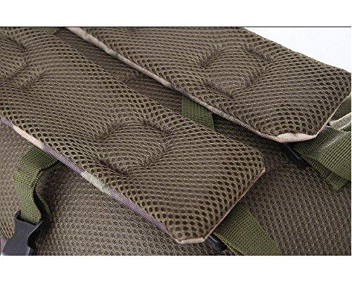 Camouflage All'aperto Fan Militari Alpinismo Borsa A Tracolla Zaino Trekking 3P Zaino,C C