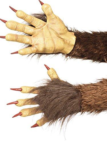 erdbeerclown - Kostüm Accessoire- Handschuhe- Monster Hände mit Krallen, Braun