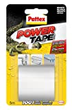 Pattex Power Tape, cinta multiusos ultraresistente, corte fácil, blanco, 5m