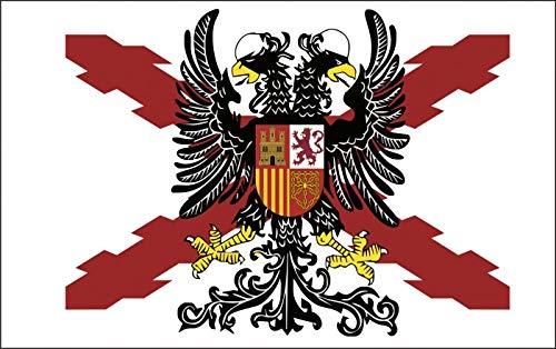 Durabol Fahne mit Adler Bicéfala - Andresienkreuz 150 x 90 cm Flag Satin - Adler Satin