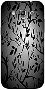 Snoogg Black Trees Seamless Vector Wallpaper Solid Snap On - Back Cover All A...