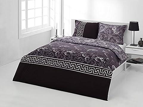 Premium 2-3 tlg Renforce Bettwäsche 100% Baumwolle mit Reißverschluss in