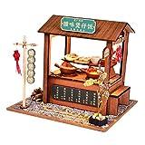 FLAMEER 1:24 DIY Puppenstube Miniatur Puppenhaus Projekt 3D Imbissstand Modell Handwerk Kit - Reis Stand