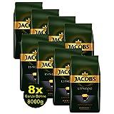 Jacobs Kaffee ESPRESSO Expertenröstung, Ganze Bohne 8x 1000g (8000g) - Ausgewählte Kaffee Sorten!