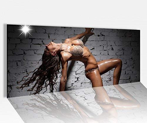 Acrylglasbild 100x40cm Sexy Frau nackt Pose Erotik Mauer Akt Acrylbild Glasbild Acrylglas Acrylglasbilder 14A1568, Acrylglas Größe1:100cmx40cm