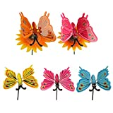 #7: Wonderland , Set of 5, Colorful Plastic Garden Sticks / stakes IN Set of Two Big butterfly and Set of Three small butterfly ( garden stick, stakes, balcony decor, home decoration items, garden decor)