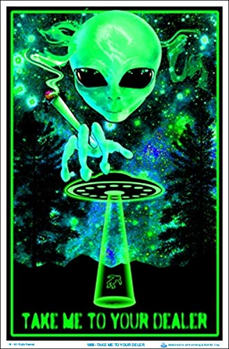 Take Me To Your Dealer College Blacklight Poster 24 x 36in by Poster Revolution - Blacklight Poster