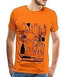 Spreadshirt Lab stuff Labor Geräte Einrichtung Chemie Männer Premium T-Shirt, L, Orange