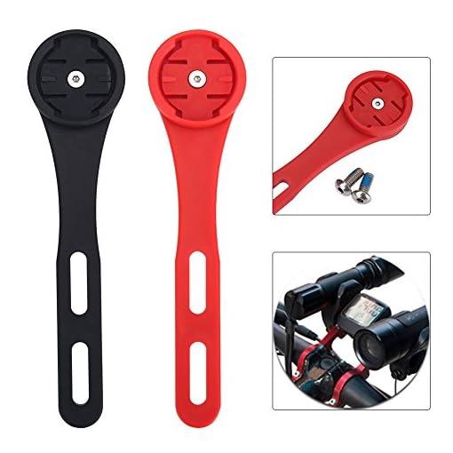 Supporto Montaggio per Bici Bicicletta Manubrio Supporto per Garmin Edge 200, 500, 510, 800, 810, 1000 GPS ( Colore : Nero )