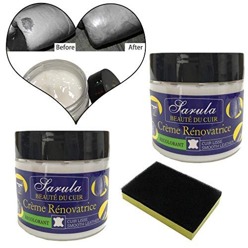 AMhomely® Neu!3 Stück Lederreparatur/PU Creme reparieren Schwammbürste + Reparaturcreme - Lederreparatur-Spachtelmasse für Lederrestaurierungsrisse, Verbrennungen und Löcher (3PC) - Versiegelung Creme