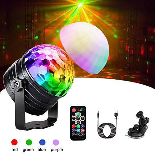 Disco Kugel, Mini-LED-bunten Projektions-Licht-Fernbedienung Kleine magische Kugel-Stadiums-Licht DJ Voice Control-Licht-Blitz-Party-Weihnachtslicht Stage Disco F1 -