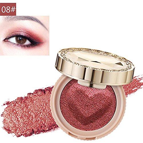 Dauerhafte Augenfarbe (Make-Up Lidschatten, KIMODO Neu Langlebige Bunte Lidschatten Presse Powder Kosmetik Makeup)