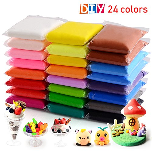 24 colores Air Dry Clay