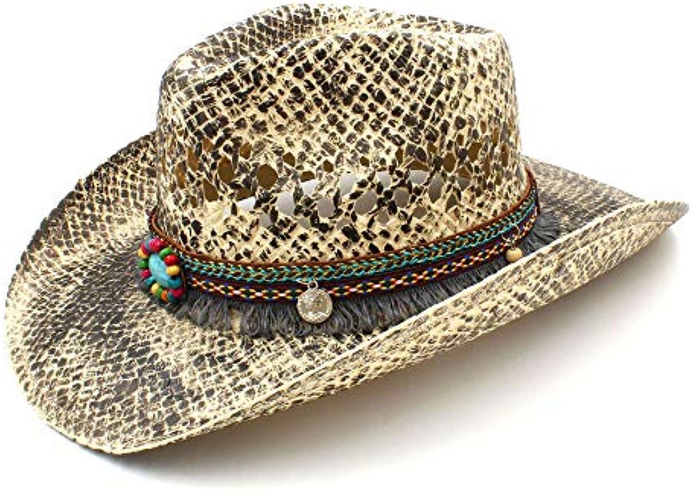 FengHe Fashion Moda Good Looking Donna Uomo Cappello Paglia Cappello Uomo  Western Cowboy Estate Tessuta a Mano Lady Sombrero... Parent 2b9d82 48318b79a9b6