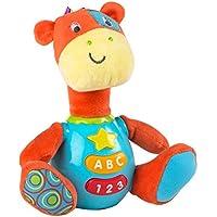 Winfun - Peluche Jirafa para bebés que habla & luces de colores - Idioma: español (ColorBaby 85177)