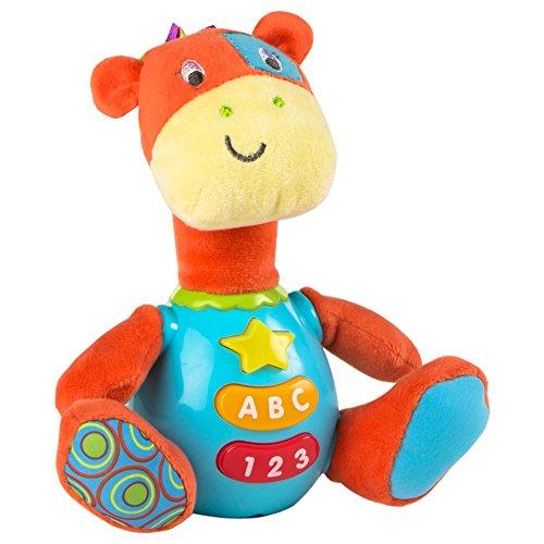 Winfun - Peluche Jirafa para bebés que habla & luces de...